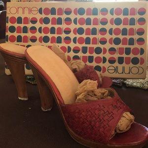 Vintage Connie maroon color heels